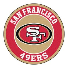 San Francisco 49ers Team Emblem Throw Rug #ThrowRugs