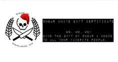 $50 Sugar Knife Gift Certificate / Sugar Knife Artisan Sweets