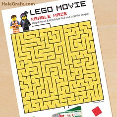 lego movie kragle maze FREE Printable LEGO Movie Kragle Maze