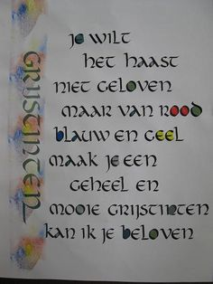 Webklik.nl - Kalligrafie