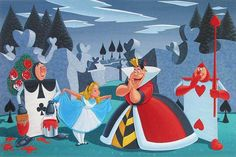 Manuel Hernandez Turn Out Your Toes - From Disney Alice in Wonderland Giclee On Canvas Film Disney, Arte Disney, Disney Magic, Disney Pixar, Alice In Wonderland 1951, Adventures In Wonderland, Jim Henson, Disney Villains, Disney Characters