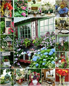 Around the Potting Shed: Year in Review Bridal Wreath Spirea, Snowball Viburnum, Endless Summer Hydrangea, Limelight Hydrangea, Mosaic Flower Pots, Potting Sheds, Flowering Vines, Window Boxes, Easter Table