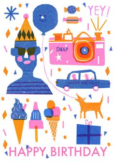 Risograph Postcards - Louise Lockhart | Illustration | Design | The Printed Peanut