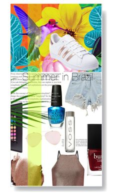 """Summer in Brazil"" by lucifuk on Polyvore featuring Balmain, Chicnova Fashion, Miss Selfridge, OPI and adidas"