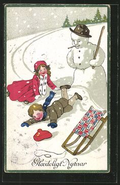 Uh, Snowman carrying a whacking stick?