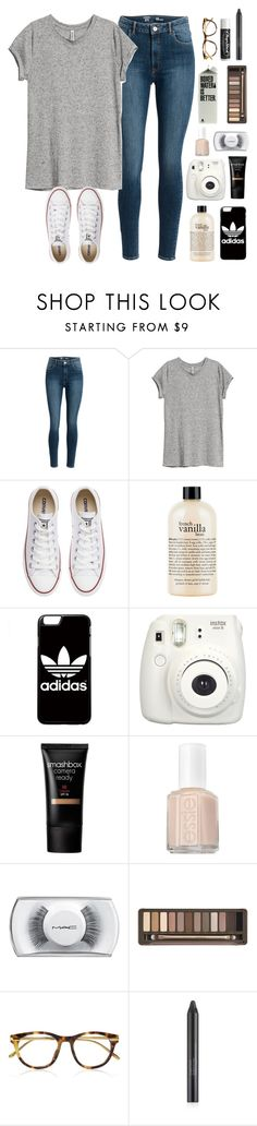 """.024 sorry for being inactive"" by lizzielane33 ❤ liked on Polyvore featuring H&M, Converse, philosophy, adidas, Smashbox, Essie, MAC Cosmetics, Urban Decay, Linda Farrow Luxe and Chapstick"
