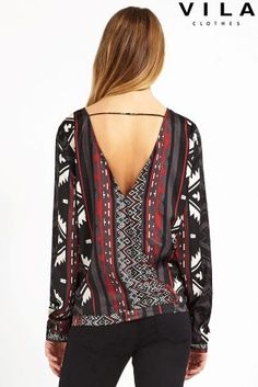Buy Vila Printed Woven Top online today at Next: Canada