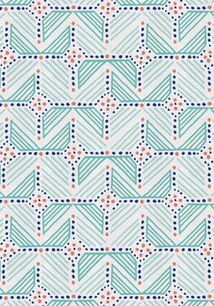 #Fabric and #wallpaper designed by Katja Ollendorff and featured on #Guildery