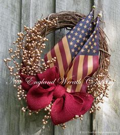Lexington Glory and Honor Wreath  ~A New England Wreath Company Original Design~