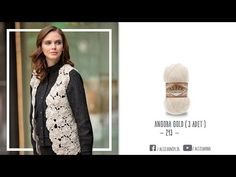 Alize Angora Gold ile Şık ve Etkili Yelek - Elegant and effective vest with Alize Angora Gold - YouTube