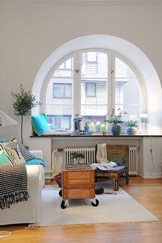 Las repisas de las ventanas en el estilo nórdico