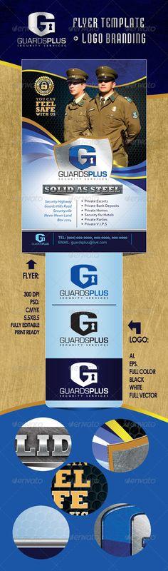 GuardsPlus Logo and Flyer Template - Commerce Flyers