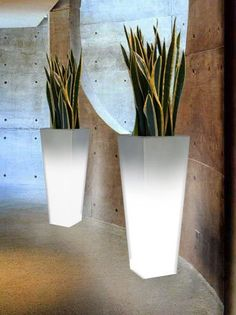 Light up your space with the tall, modern glow of BOXHILL's Illuminated LED Tapered Planter. We love putting large, house number stickers on the front of this planter and using it to illuminate a front porch! See our entire lighting collection at www.shopboxhill.com