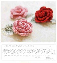 Watch The Video Splendid Crochet a Puff Flower Ideas. Phenomenal Crochet a Puff Flower Ideas. Col Crochet, Crochet Brooch, Crochet Diagram, Irish Crochet, Crochet Motif, Crochet Earrings, Appliques Au Crochet, Crochet Leaf Patterns, Crochet Leaves