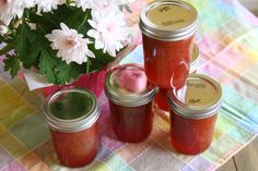 Rhubarb Jam Recipe: Preserving the Start of Spring - Food Fanatic - This tart rhubarb jam is perfect with scones or biscuits, and even better tucked inside a jam tart or rhubarb fool.