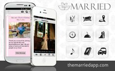 Married is your custom app for your wedding!  Guests can take photos and see all the pictures taken by other guests through the app and on a projector in real time, get directions to key locations, request songs to the DJ, and much more! wedding