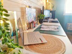 #desk #cosy #atelier #espace #lifestyle #bzh #creatif #2020 #wood #green