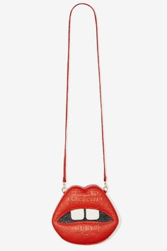 Gelareh Mizrahi Lips Embossed Leather Crossbody Bag