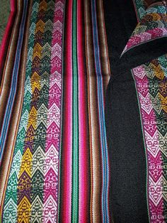 Black andes textile tablecloth for sale $30.00 #aspenandes