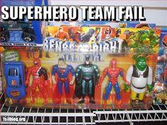 Super Hero Team Fail