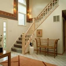 Awesome Staircase Design With Landing Decor Combined Dark Riser Also Wooden Balustrade In X Cross Shape Featuring Rounded Finials Ideas Office Under Stairs Design Interior Design Ideas Interior Railings, Interior Stairs, Home Interior, Office Under Stairs, Stair Railing Design, Deck Railings, Landing Decor, Narrow Living Room, Living Rooms