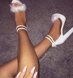 Feathered heels Xx PinterestX @BreakfastAtChanel Xo