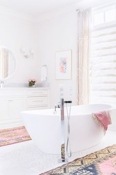 The #1 Rule for Decorating an All-White Bathroom via @MyDomaine