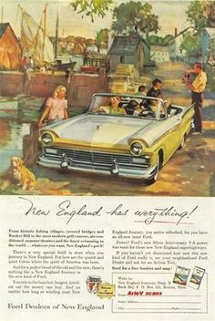 1957 Ford Convertible- My parents let me drive this when I was learning to drive