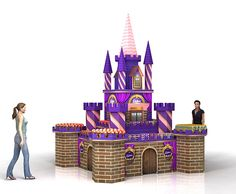 Castle display made from corrugated board
