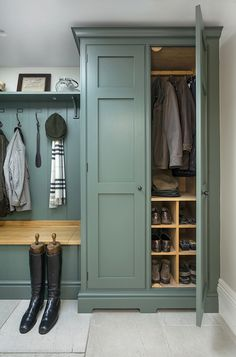 The Detail Lewis Alderson Boot Room Utility, Utility Room Storage, Boot Room Storage, Hallway Cupboards, Hallway Storage, Cloakroom Storage, Hallway Inspiration, Laundry Room Inspiration, Mudroom Laundry Room