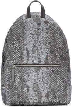 Maison Margiela Grey Reflective Python Print Backpack