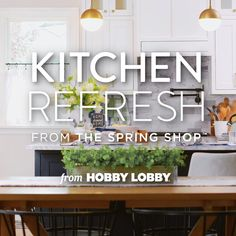 It's time to refresh your kitchen decor, dishes and more! Kitchen Dining, Kitchen Decor, Diy Projects Videos, Bar Recipes, Video Tutorials, Spring Cleaning, Hobby Lobby, Getting Organized, Home Organization