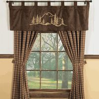 Mountain Forest Brown Wildlife Window Treatments