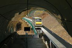 "Hungerburgbahn Innsbruck | Innsbruck, Hungerburgbahn, Haltestelle ""Alpenzoo"", 04.01.2008 ..."