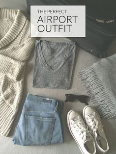 Comfortable Cardigan ° Loose Fitting T-shirt ° Dark Sunglasses ° Your Comfiest Jeans ° An Oversized Scarf ° Comfortable Flat Shoes