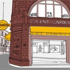 London covent garden illustration by Claire Rollet