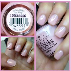 Best baby pink - OPI It's a girl! DEF getting a mani pedi with this before i have my next baby girl :)