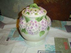 Beautiful Purple Hydrangea Cookie Jar Sugar Canister by LONLAR803, $20.00