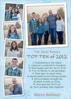 better than the annual Christmas letter....  Great idea for any family.