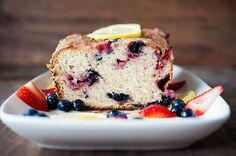 Very-Berry Lemony Sweet Bread (Gluten Free)
