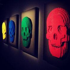 YoYo atelier   The art of the brick #skulls #skeleton #lego #exhibition #theartofthebrick #art #nathansawaya #milan #italy