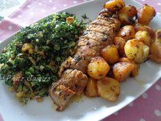 Pork Recipes, Wine Recipes, Cooking Recipes, Healthy Recipes, Roasted Pork Tenderloins, Roasted Meat, Portuguese Recipes, Home Food, International Recipes