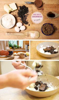 fudgy sea salt brownie bites   makes 36 brownies bites    ingredients  8 ounces (2 sticks) unsalted butter, chopped into cubes   