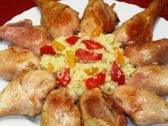 Pulpe de pui cu vin si mujdei de usturoi la cuptor Romanian Food, Chicken Pasta, Pinterest Recipes, Antipasto, Food To Make, Good Food, Food And Drink, Appetizers, Potatoes