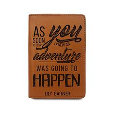 d55d9cd53631 Custom RFID Leather Passport Cover Wallet - And So The Adventure ...