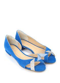 Steve Madden Daisie femme lisse en cuir et daim Smart Cour Chaussures Bleu