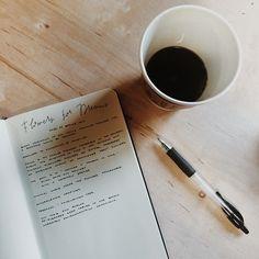 Handwriting and coffee.