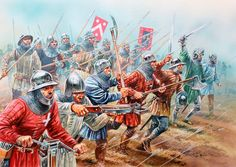 French men-at-arms advancing, Battle of Agincourt, Hundred Years War
