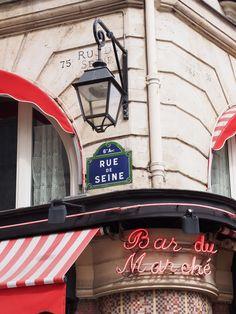 Paris | Pupulandia.fi Travel Around The World, Around The Worlds, Travelling, Broadway Shows, Neon Signs, Rue De Seine
