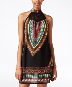 American Rag Printed Halter A-Line Dress, Only at Macy's | macys.com
